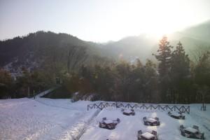 雪の日のガーデン
